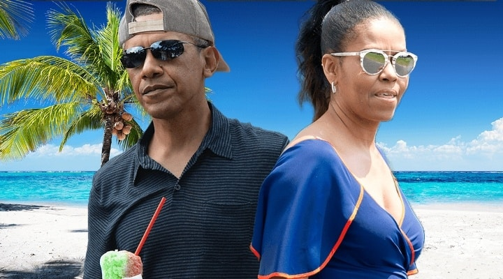 Barack Obama and Michelle Obama on Vacation