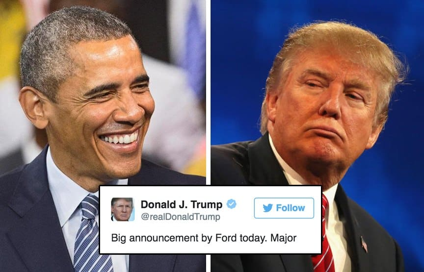 Obama and Ford and Trump