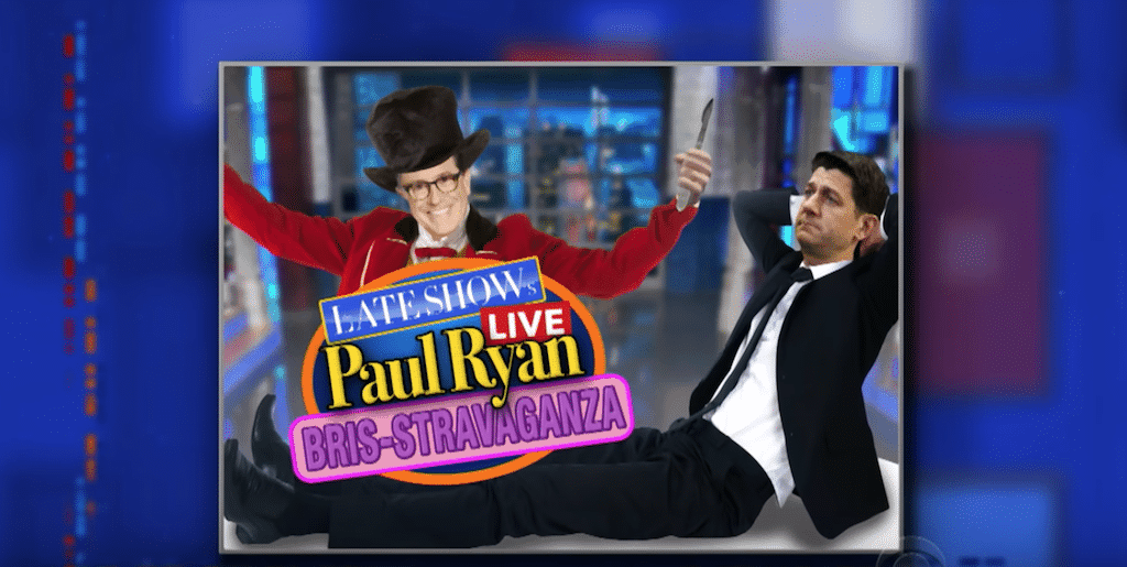 Stephen Colbert Has An Offer For Paul Ryan And It Involves