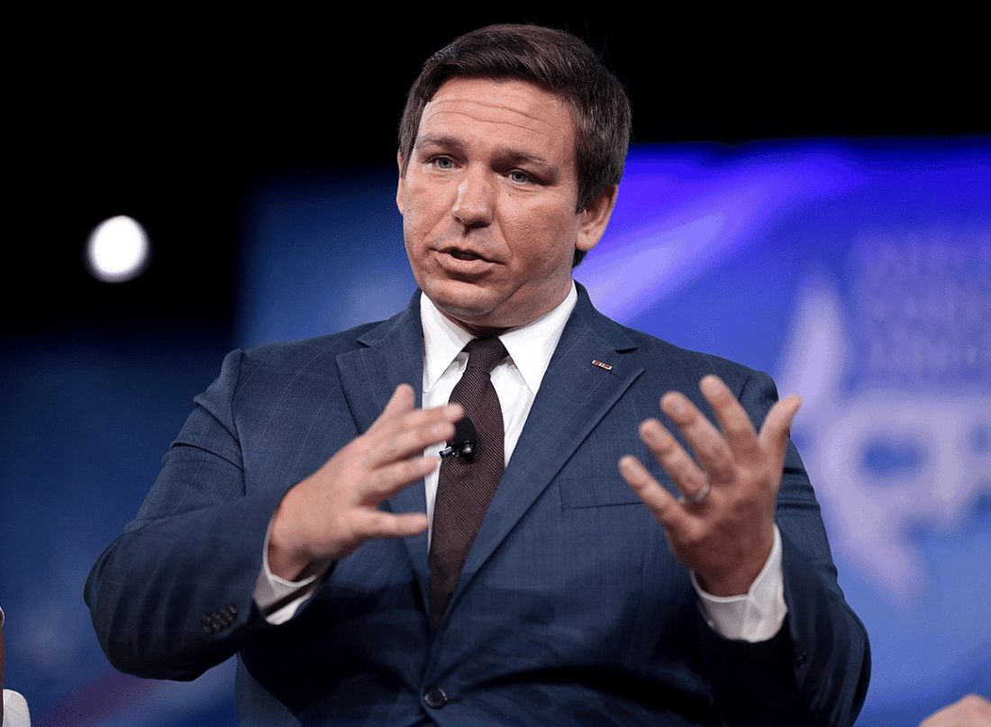 Ron Desantis runs racist hate group