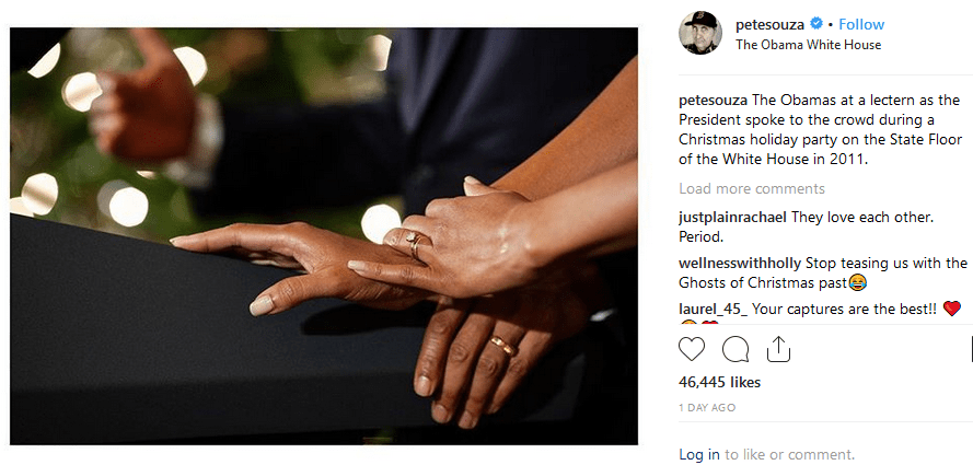 Obama and wife's hands