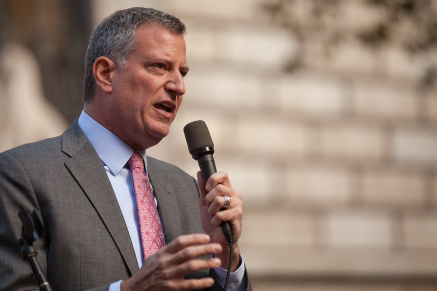 Mayor Bill de Blasio announces healthcare plan for NYC uninsured