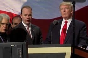 Rick Gates and Donald Trump