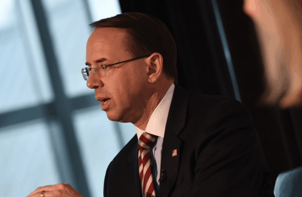 White House says Rosenstein departure his choice