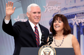 Karen Pence lies for husband