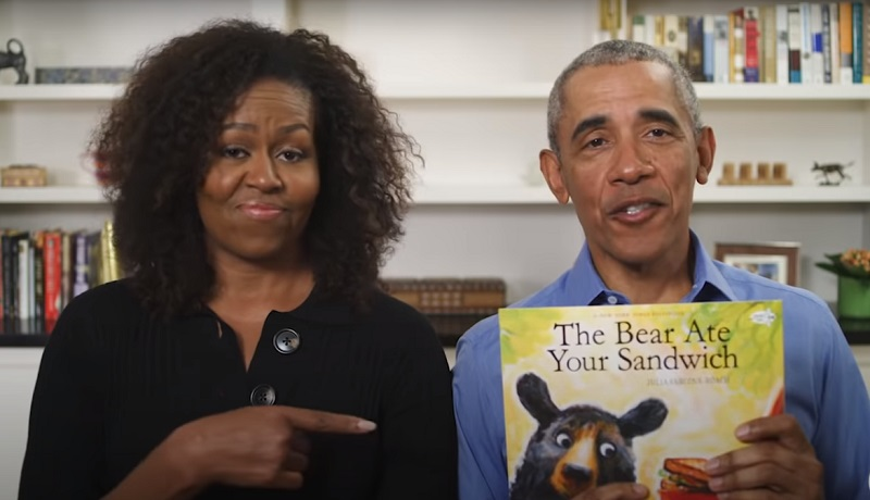Michelle and Barack Obama read on PBS