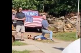 Mocking George Floyd death, Trumpers counter protest