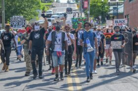 Teenager continues Black Lives Matter protests after cross burning