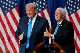 Trump and Pence speak at Charlotte convention on the first day, before the spread hits