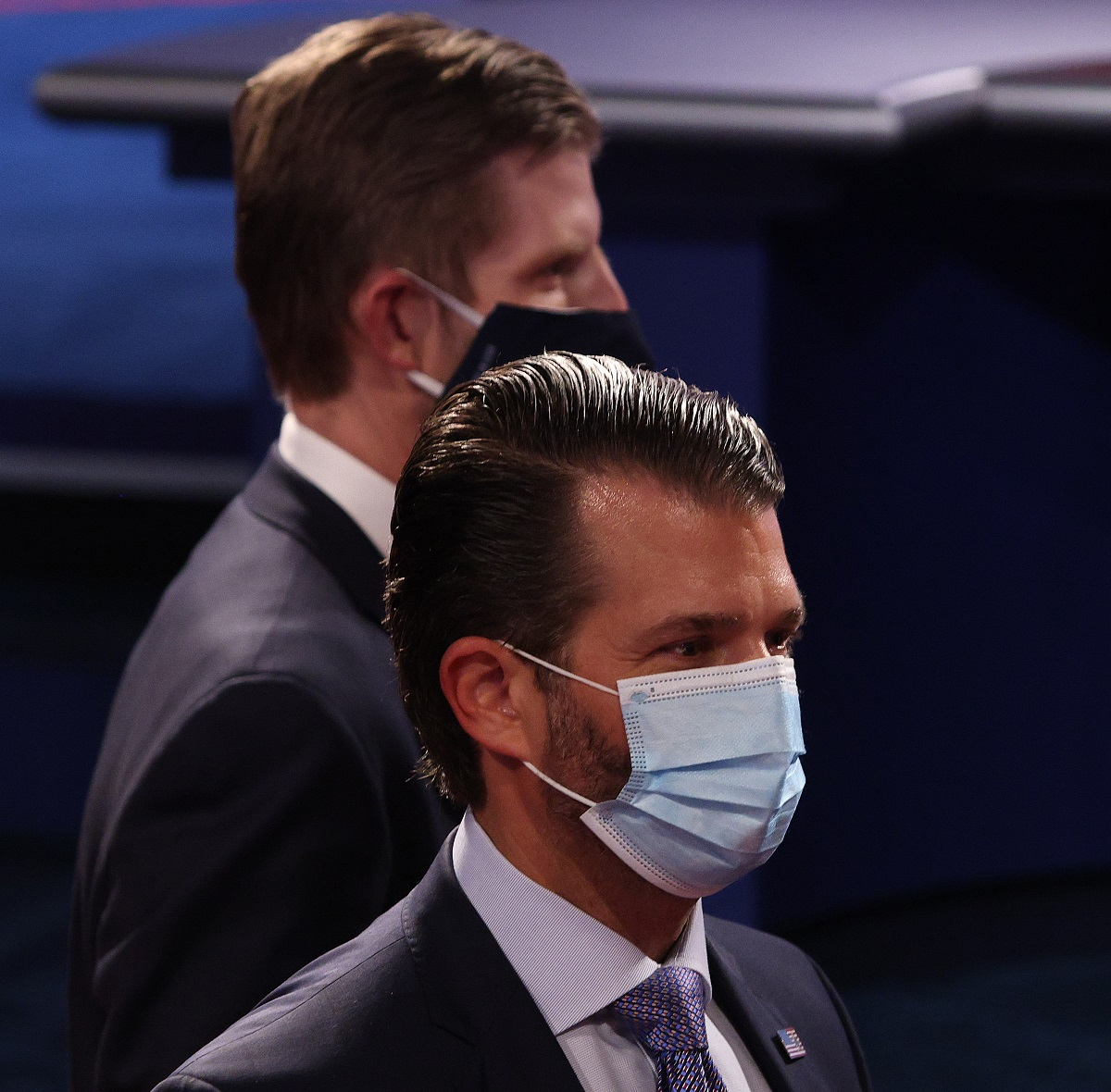 Donald Jr Eric Trump masked