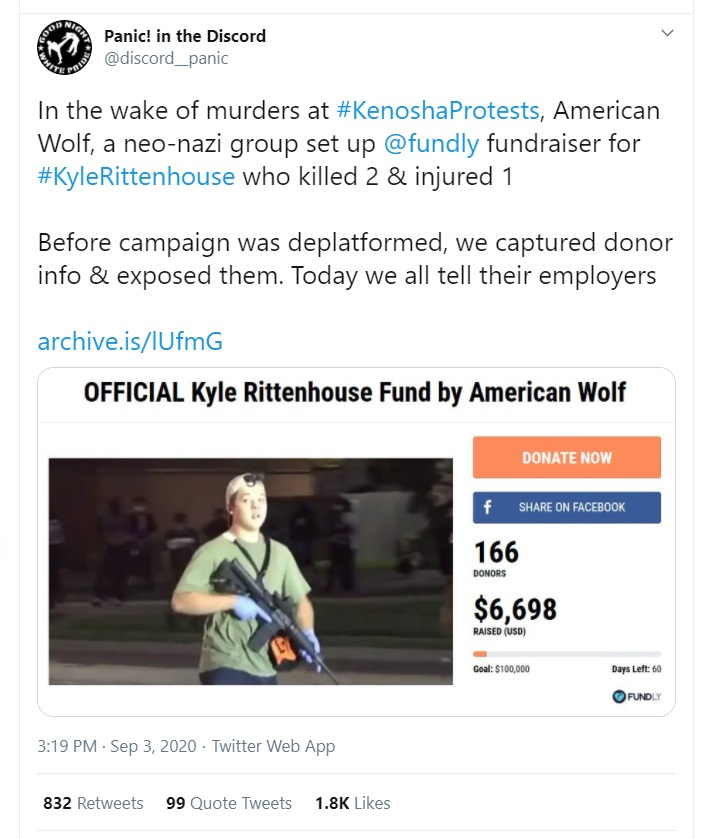 Kyle Rittenhouse donors exposed