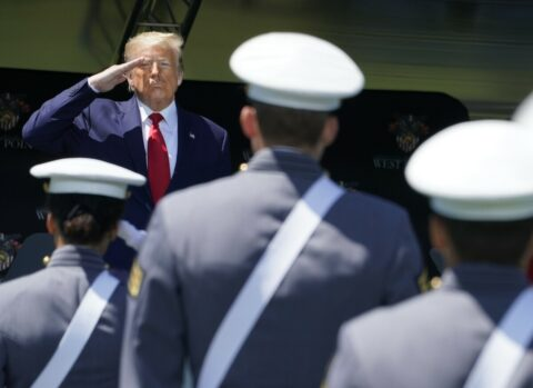 Donald Trump takes away military paper
