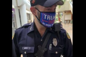 Daniel Ubeda caught in illegal mask at polling site