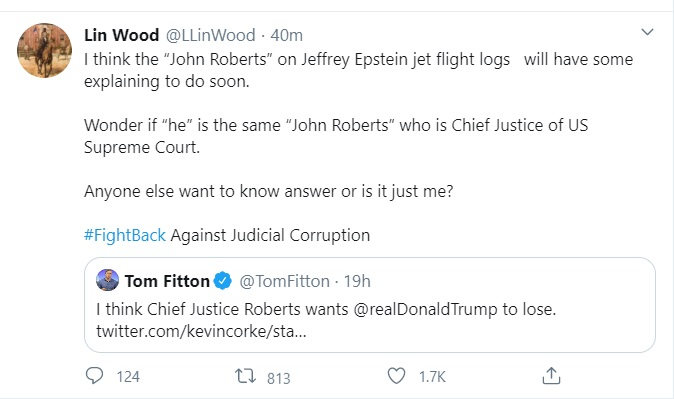 Lin Wood accuses Chief Justice John Roberts