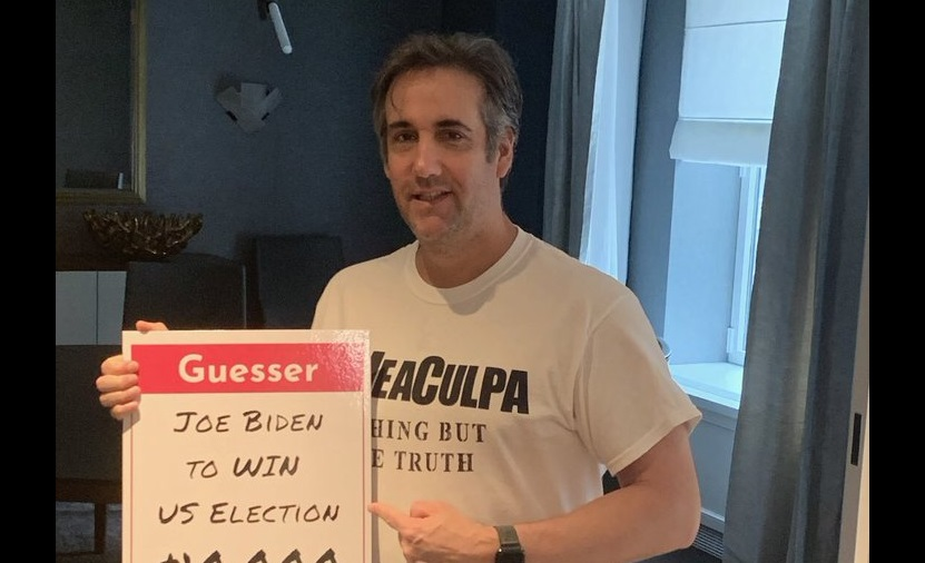 Michael Cohen bets on Trump losing