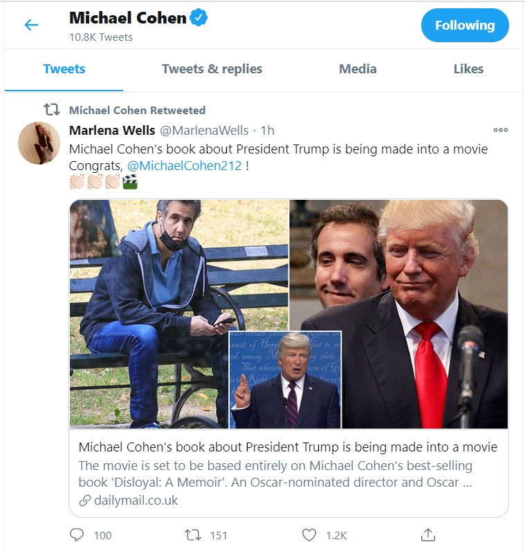 Michael Cohen behind Donald Trump movie
