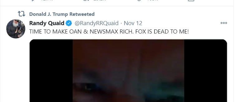 DOnald Trump and Randy Quaid tweets