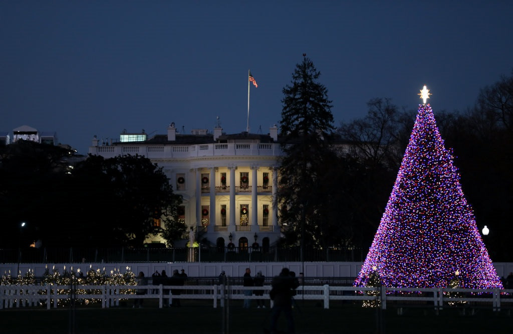 Donald Trump missed White House Christmas party, says Secret Service