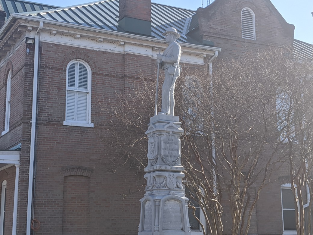 Tyrrell County NC Confederate statue