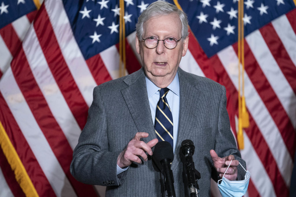 Mitch McConnell targets by stop the steal