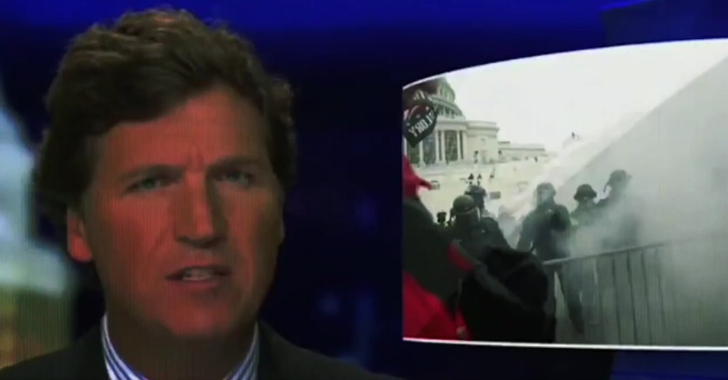 Tucker Carlson tries to plea innocence for white supremacists in Capitol attack